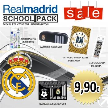 SCHOOL PACK LITE NEGRO REAL MADRID CF