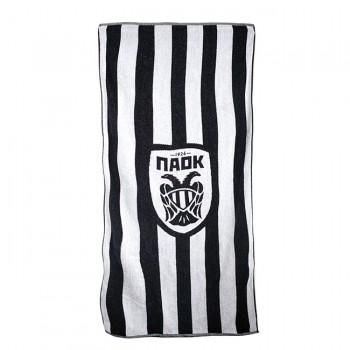 PAOK FC STRIPED LOGO BEACH TOWEL