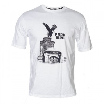 PAOK FC WHITE T-SHIRT EAGLE CITY