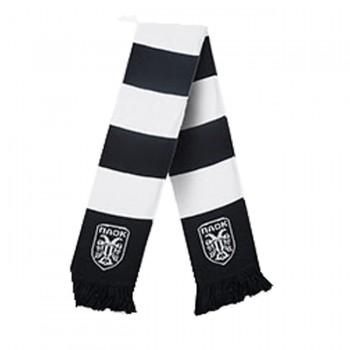 ΚΑΣΚΟΛ PAOK FC WHITE LOGO BLACK AND WHITE