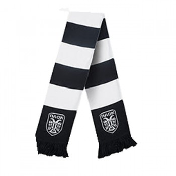 ΚΑΣΚΟΛ PAOK FC WHITE LOGO BLACK AND WHITE