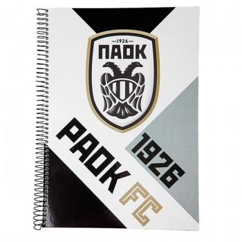 ΤΕΤΡΑΔΙΟ ΣΠΙΡΑΛ 17x24 PAOK FC