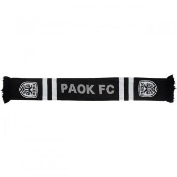 ΚΑΣΚΟΛ PAOK FC ΜΑΥΡΟ ΛΕΥΚΟ ΚΑΙ ΓΚΡΙ