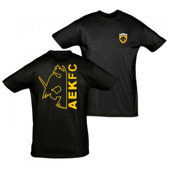 T-SHIRT ΠΑΙΔΙΚΟ ΜΑΥΡΟ AEK FC