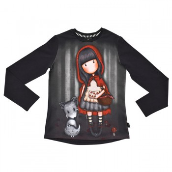 ΠΑΙΔΙΚΟ T-SHIRT ΜΑΚΡΥΜΑΝΙΚΟ SANTORO GORJUSS LITTLE RED RIDING HOOD
