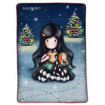 ΚΟΥΒΕΡΤΑ FLEECE SANTORO GORJUSS MY CHRISTMAS FRIEND