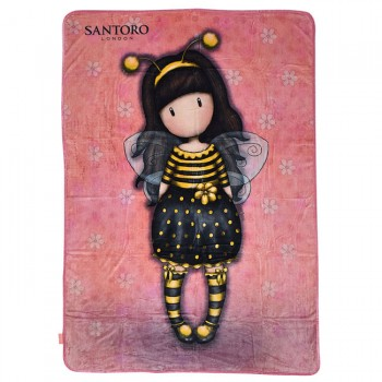 ΚΟΥΒΕΡΤΑ FLEECE SANTORO GORJUSS BEE LOVED