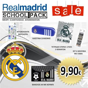 SCHOOL PACK LITE BLUE REAL MADRID CF